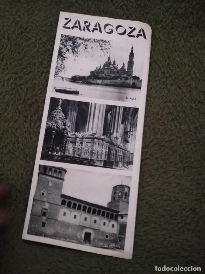 Folletos de turismo: antiguo folleto turistico zaragoza - Foto 2 - 198550260