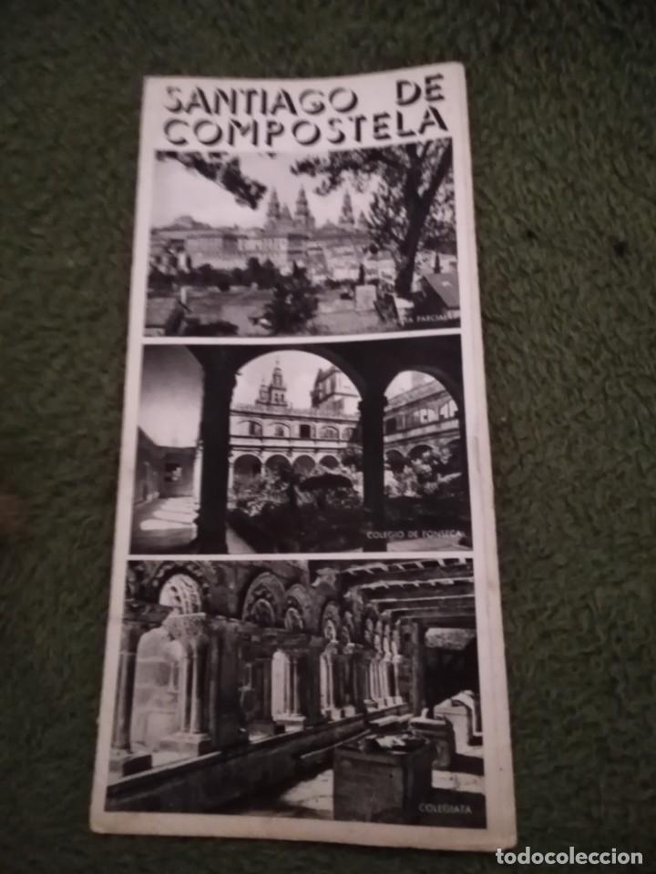 Folletos de turismo: antiguo folleto turistico santiago de compostela - Foto 2 - 198550598