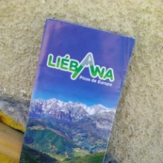 Folhetos de turismo: LIÉBANA (PICOS DE EUROPA). Lote 198685836