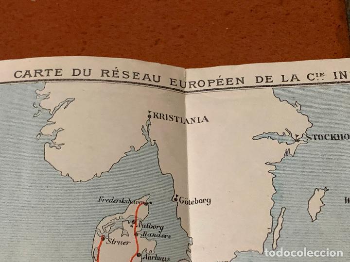 Folletos de turismo: Excepcional mapa de Ppios S.XX mapa de la ruta Tren Transiberiano. Cie Internationale des wagons lit - Foto 15 - 198721052