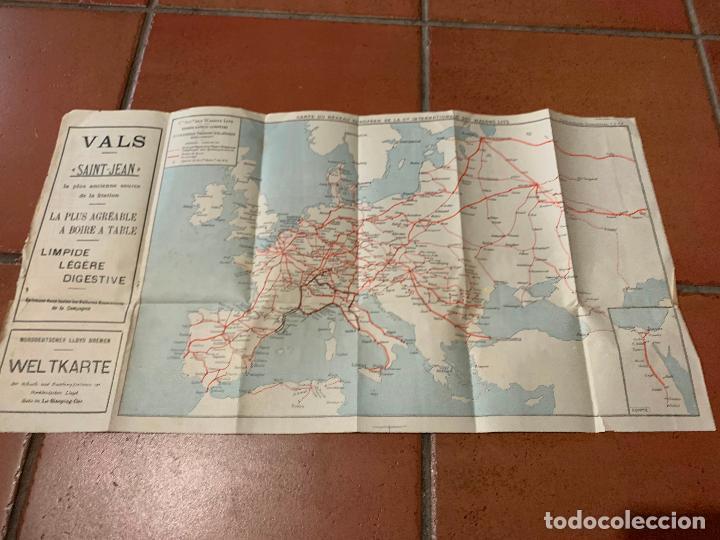 EXCEPCIONAL MAPA DE PPIOS S.XX MAPA DE LA RUTA TREN TRANSIBERIANO. CIE INTERNATIONALE DES WAGONS LIT (Coleccionismo - Folletos de Turismo)