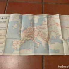 Folletos de turismo: EXCEPCIONAL MAPA DE PPIOS S.XX MAPA DE LA RUTA TREN TRANSIBERIANO. CIE INTERNATIONALE DES WAGONS LIT. Lote 198721052