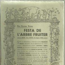 Folletos de turismo: 3930.-MOIÀ-MOYA-FESTA DE L`ARBRE FRUITER PRO CULTURA PATRIA-ANY 1933. Lote 199097345