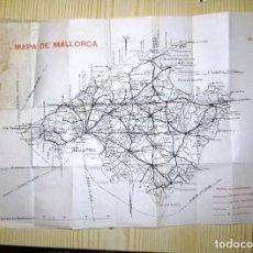 Folhetos de turismo: MAPA DE MALLORCA AÑO 1931. Lote 199358006