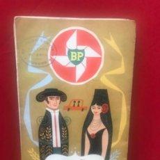 Folletos de turismo: ANTIGUO MAPA ESPAÑA PORTUGAL BP SELLADO ESTACION DE SERVICIO VILLAFRIA BURGOS ILUSTRADO POR LABAN. Lote 199435761