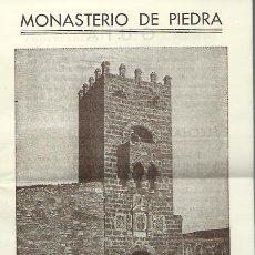 Folletos de turismo: MONASTERIO DE PIEDRA - GUIA DEL VISITANTE - FOLLETO - TALL. GRAF. REX - AV. JOSE ANTONIO 719. Lote 199812782