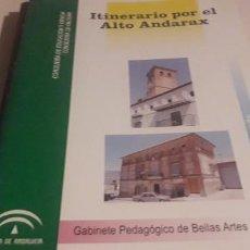Folletos de turismo: ITINERARIO POR EL ALTO ANDARAX. Lote 199952240
