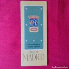 Folletos de turismo: PLAN DE MADRID. PLANO. GALERIAS PRECIADOS. EN FRANCÉS. EDIT VALVERDE SA SAN SEBASTIAN. Lote 200238790