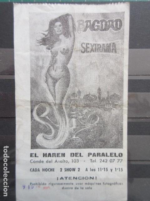 COLECCION HISTORIA BARCELONA - PARQUIN REGIO MARQUES DEL DUERO 48 BAGDAD 1977 - LEER INTERIOR (Coleccionismo - Folletos de Turismo)