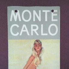 Folletos de turismo: MONTE-CARLO · PRINCIPADO DE MÓNACO. TRÍPTICO AÑOS 1950. Lote 202281741