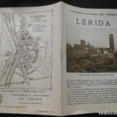 Folletos de turismo: LERIDA FOLLETO ANTIGUO DE TURISMO. Lote 295490393