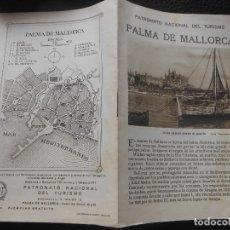 Folletos de turismo: PALMA DE MALLORCA BALEARES FOLLETO ANTIGUO DE TURISMO. Lote 202597503