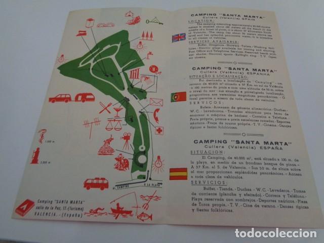 Folletos de turismo: CULLERA. VALENCIA. CAMPING SANTA MARÍA. DIPTICO PUBLICITARIO - Foto 2 - 202760460
