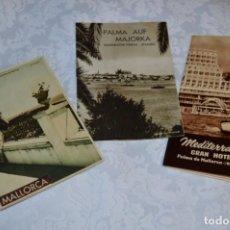 Folletos de turismo: LOTE 3 FOLLETOS DE TURISMO ANTIGUOS / PALMA DE MALLORCA - AÑOS 50/60 ¡MIRA FOTOS Y DETALLES!. Lote 202806968
