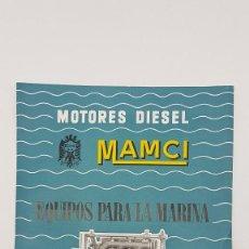 Folletos de turismo: FOLLETO MOTORES DIESEL ( MAMCI ) MARINA ( AÑOS 60 ). Lote 203112855