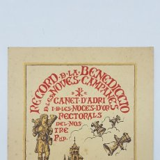 Folletos de turismo: FOLLETO RECUERDO BENDICION DE LAS NUEVAS CAMPANAS DE CANET D'ADRI ( GIRONA ) 1904-1954. Lote 203131715