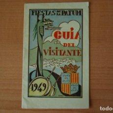 Folletos de turismo: FIESTAS DE LA PATUM. GUIA DEL VISITANTE. BERGA. 1949. Lote 203757110