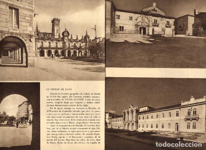 Folletos de turismo: LUGO Y SU PROVINCIA. CÁMARA DE COMERCIO, INDUSTRIA Y NAVEGACIÓN. ED. ARTE MORAN. BILBAO. - Foto 2 - 204209876