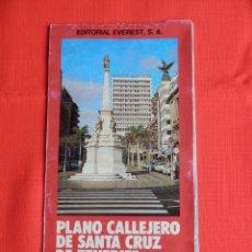 Folletos de turismo: MAPA Y PLANO CALLEJERO DE SANTA CRUZ DE TENERIFE EDITORIAL EVEREST 1988. Lote 204243053