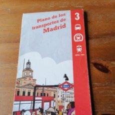 Folletos de turismo: PLANO DE LOS TRANSPORTES DE MADRID. N. 3. Lote 204379640
