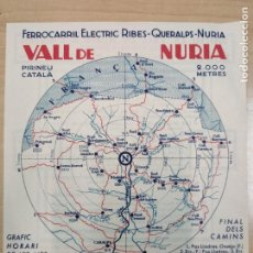 Folletos de turismo: FERROCARRILES- FERROCARRIL ELECTRIC RIBES - QUERALPS - NURIA - ANTIGUO FOLLETO. Lote 204410033