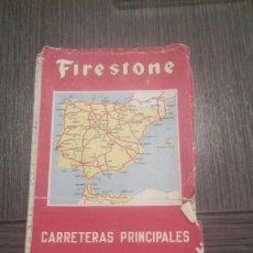 Folletos de turismo: MAPA ANTIGUO FIRESTONE - ESPAÑA Y PORTUGAL - ESCALA 1:1.125.000. Lote 204489206