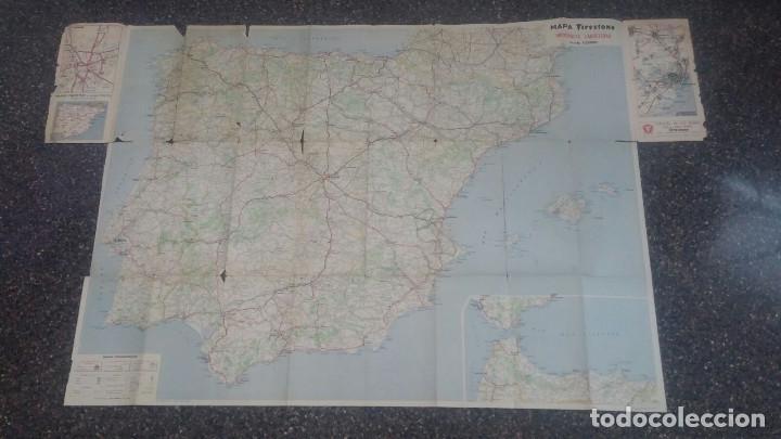 Folletos de turismo: Mapa antiguo Firestone - España y Portugal - Escala 1:1.125.000 - Foto 3 - 204489206