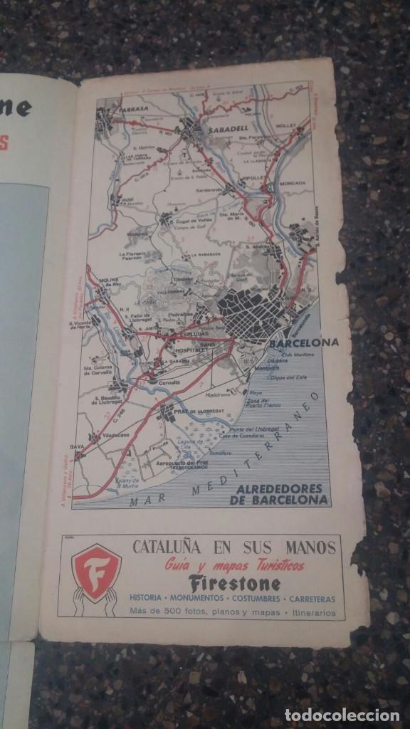 Folletos de turismo: Mapa antiguo Firestone - España y Portugal - Escala 1:1.125.000 - Foto 8 - 204489206