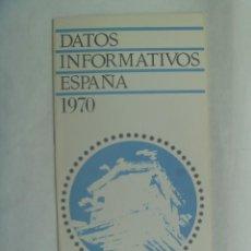 Folletos de turismo: FOLLETO TURISTICO DE ESPAÑA : BENIDORM ( ALICANTE ) 1970 . MINISTERIO DE INFORMACION Y TURISMO. Lote 204666781