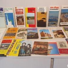 Folletos de turismo: LOTE 25 MAPAS-GUIAS DE ESPAÑA Y DEL MUNDO.( VINTAGE). Lote 204800555