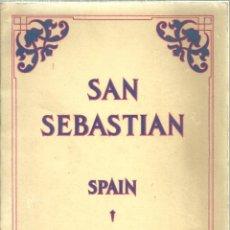 Folhetos de turismo: 3593.-SAN SEBASTIAN-FOLLETO TURISTICO EDITADO EN NEW YORK AÑO 1925-ILUSTRADO CON FOTOGRAFIAS. Lote 205252773