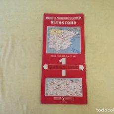 Folletos de turismo: MAPA DE CARRETERAS FIRESTONE, Nº1, ESCALA 1:500.000, PRIMERA EDICIÓN. Lote 205381286