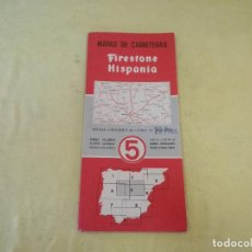 Folletos de turismo: MAPA DE CARRETERAS FIRESTONE - HISPANIA, Nº5, ESCALA 1:500.000, SEGUNDA EDICIÓN. Lote 205382218