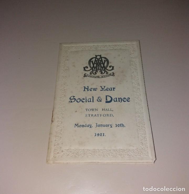 PAPEL ANTIGUO. PROGRAMA BAILE AÑO NUEVO, STRATFORD (WEST HAM, 1921) (Coleccionismo - Folletos de Turismo)