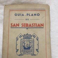 Folletos de turismo: GUIA - PLANO DE SAN SEBASTIAN - PUBLICIDAD CAFRANGA - 92P. 76X43CM BUEN ESTADO. Lote 205717333