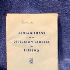 Folhetos de turismo: ALOJAMIENTOS DIRECCION GENERAL DE TURISMO PARADORES 17X12CMS. Lote 205778722