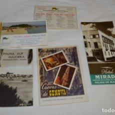 Folletos de turismo: FOLLETOS DE TURISMO ANTIGUOS Y OTROS / PALMA DE MALLORCA - AÑOS 50 / 60 ¡MIRA FOTOS Y DETALLES!. Lote 205846103