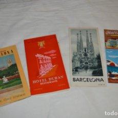 Folletos de turismo: FOLLETOS DE TURISMO ANTIGUOS Y OTROS / CATALUÑA BARCELONA - AÑOS 50 / 60 ¡MIRA FOTOS Y DETALLES!. Lote 205847728