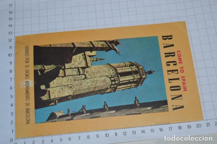Folletos de turismo: FOLLETOS DE TURISMO ANTIGUOS y otros / Cataluña BARCELONA - Años 50 / 60 ¡Mira fotos y detalles! - Foto 4 - 205847728