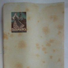 Folletos de turismo: SALAMANCA, GRAN FERIA SEPTIEMBRE 1948.. Lote 206356108