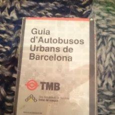 Folletos de turismo: GUIA D´AUTOBUSSOS DE BARCELONA - JUNIO 1993. Lote 207219452