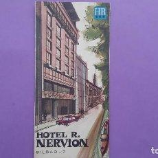 Brochures de tourisme: ANTIGUO FOLLETO HOTEL NERVION BILBAO CADENA HOTELERA ARANZAZU PLANO CIUDAD. Lote 208057347