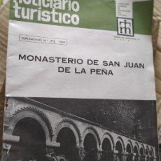 Folletos de turismo: MONASTERIO SAN JUAN DE LA PEÑA NOTICIARIO TURÍSTICO NÚM 278 AÑO 1969. Lote 208137060