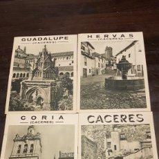 Folletos de turismo: ANTIGUOS FOLLETOS PUBLICITARIOS CÁCERES GUADALUPE CORIA HERVAS. Lote 208325025