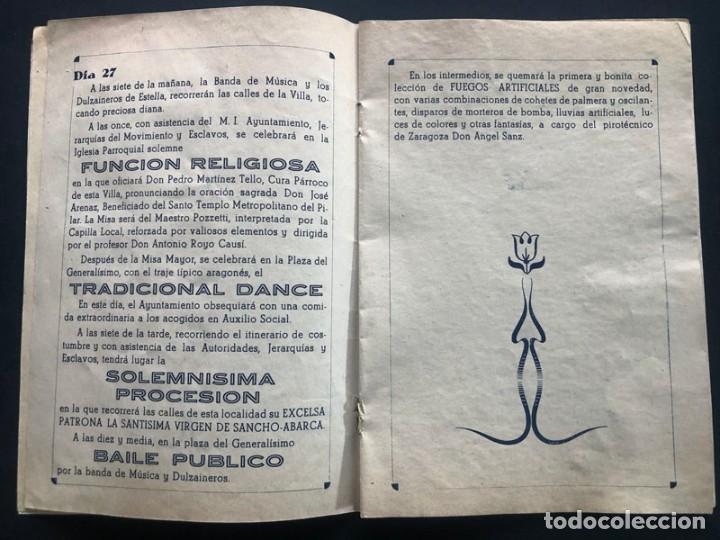 Folletos de turismo: TAUSTE AÑO 1943 ( ZARAGOZA ) PROGRAMA DE FIESTAS / NUESTRA SEÑORA DE SANCHO ABARCA - Foto 3 - 208391683