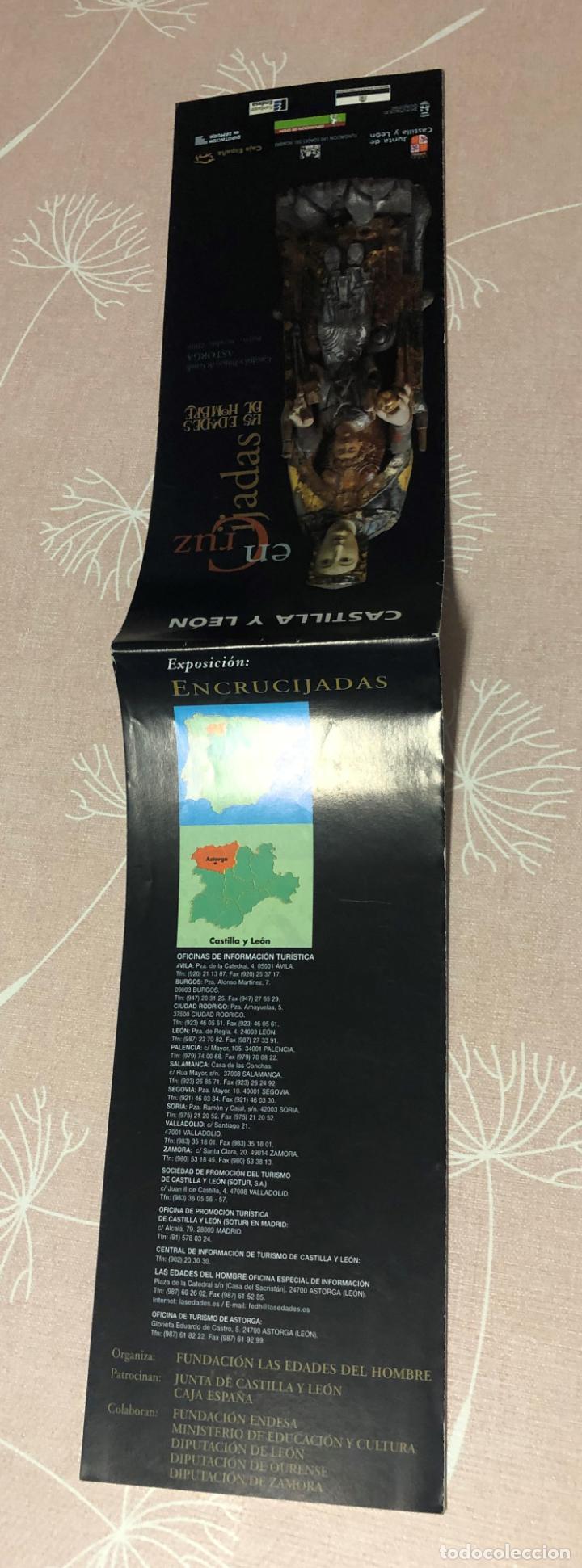 Folletos de turismo: FOLLETO ENCRUCIJADAS, EXPOSICION LAS EDADES DEL HOMBRE ASTORGA, AÑO 2000, RUTAS Y MAPA DIOCESIS - Foto 4 - 208987208