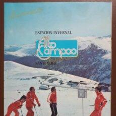 Brochures de tourisme: FOLLETO ESTACIÓN INVERNAL ALTO CAMPOO AÑOS 70. Lote 174492539