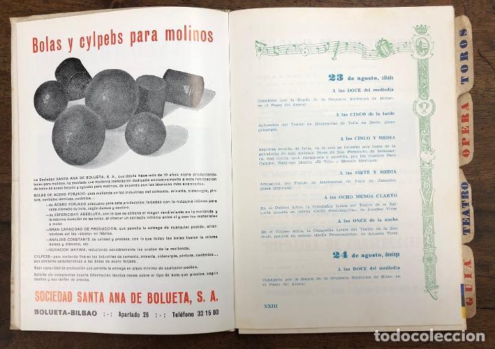 Folletos de turismo: PROGRAMA OFICIAL FIESTAS DE BILBAO AÑO 1969 - Foto 2 - 210000730