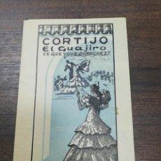 Folletos de turismo: CORTIJO EL GUAJIRO. CE QUE VOUS GHERCHEZ. ATRACCIONES DE PURO ARTE GITANO. SEVILLA.. Lote 210089240