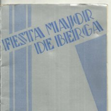 Folhetos de turismo: 4019.- BERGA - FIESTA MAYOR DE BERGA - PATUM DE 1934 - PATUM DE BERGA. Lote 210549575